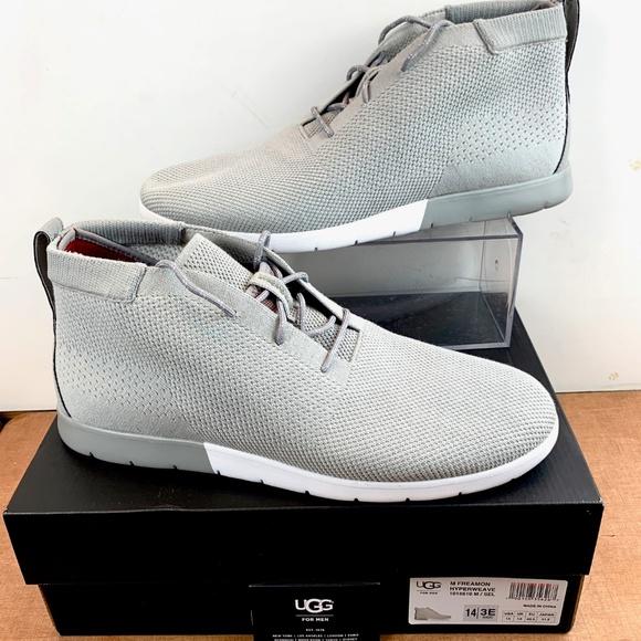caec3844a2b UGG Freamon Hyperweave Seal Grey Chukka Shoes 14 NWT
